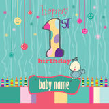 1st Birthday Greeting Card Stock Photo