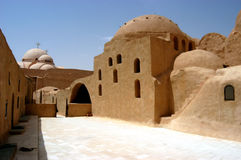 St. Bishop Monastery, Egypt. Coptic Monastery of St. Bishop in Egypt Royalty Free Stock Image