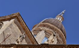 St.Blaise church dome Dubrovnik Royalty Free Stock Photo