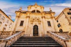 St Blaise Church en Dubrovnik Imagenes de archivo