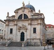 St Blaise Church, gammal stad, Dubrovnik royaltyfria foton