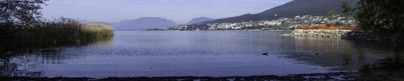 St-Blaise, Marín, Neuchatel, Suíça, paisagem Fotografia de Stock Royalty Free