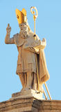 St Blaise Statue Dubrovnik Stock Photo