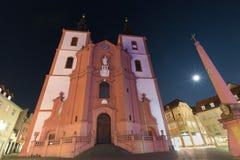 St blasius church fulda germany at night Royalty Free Stock Image