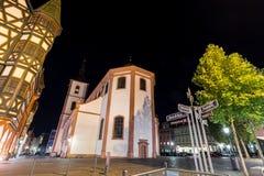 St blasius church fulda germany at night Stock Image