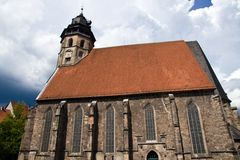 St. Blasius Church in Hann Muenden Stock Photos