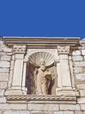 St. Blasius, the patron saint of the city of Dubrovnik. Guarded the entrance to the city at the city gate Royalty Free Stock Photos