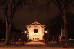 St. Boniface cathedral at night Royalty Free Stock Photos