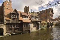 St Bonifacius Hotel i Brugge Royaltyfria Bilder