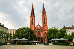 St. Bonifatius church on Luisenplatz square in Wiesbaden, Hesse, Royalty Free Stock Photo