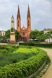 St. Bonifatius church on Luisenplatz square in Wiesbaden, Hesse, Stock Photos