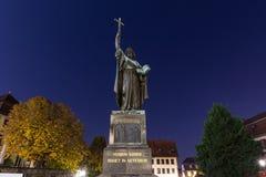 St bonifatius statue fulda germany in the evening. The st bonifatius statue fulda germany in the evening stock photos