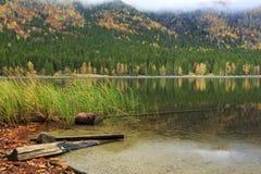 St bonito Ana Lake na Transilvânia, Roménia Fotos de Stock