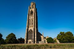 St. Botolph`s Church in Boston, England. United Kingdom stock photography