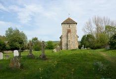 St Botolphs, 11th wieka kościół, Botolphs, Sussex, UK zdjęcia royalty free