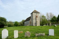 St Botolphs, 11th wieka kościół, Botolphs, Sussex, UK zdjęcie royalty free