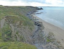St Brides Bay, Newgale stock images