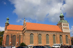 St. Bridget Church in Gdansk Stock Photo