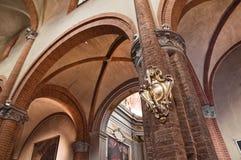 St. Brigida interior church. Piacenza. Emilia-Romagna. Italy. Stock Images