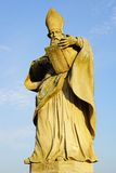 St. Bruno's sculpture on the Alte Mainbrucke. Stock Photo