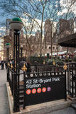42 St-Bryant Park Station Royalty Free Stock Image