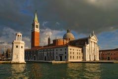 St Campanile Venetië van het Teken Royalty-vrije Stock Foto