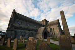 St Canice Cathedral en Ronde Toren, Kilkenny Stock Foto