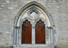 St. Canice's Cathedral doors Stock Image