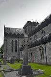 St. Canices大教堂和圆的塔在基尔肯尼 库存图片