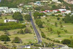 St Caraïbisch Kitts, Stock Foto's