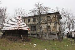19st Casa di legno del Balcani Fotografia Stock