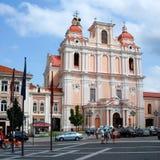 St. Casimir в Вильнюсе. Одна из много красивых церков Вильнюса Стоковые Фото