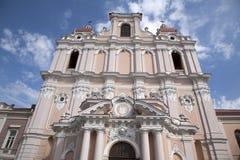 St Casimir kościół, Vilnius zdjęcia royalty free