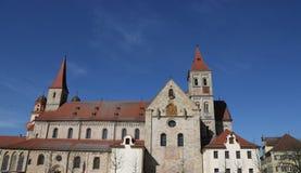 St católico Vitus de la basílica en Ellwangen, Alemania fotografía de archivo