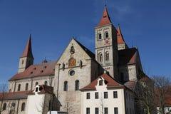 St católico Vitus de la basílica en Ellwangen, Alemania imagen de archivo