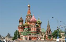 St. Catedral da manjericão (Kremlin, Moscovo, Rússia) Imagem de Stock Royalty Free