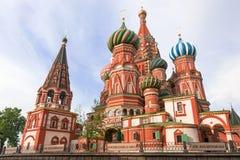 St. Catedral da manjericão. Moscovo, Rússia, quadrado vermelho Fotos de Stock