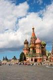 St. Catedral da manjericão no quadrado vermelho Fotos de Stock Royalty Free