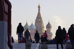 St Catedral da manjericão no quadrado vermelho em Moscovo Fotos de Stock