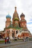 St Catedral da manjericão no quadrado vermelho em Moscovo Imagem de Stock Royalty Free