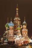 St. Catedral da manjericão no quadrado vermelho, Moscovo fotos de stock