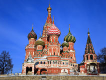 St. Catedral da manjericão no quadrado vermelho, Moscovo imagem de stock royalty free
