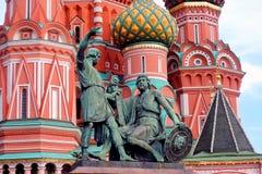 St Catedral da manjericão, quadrado vermelho, Moscovo, Rússia Fotos de Stock