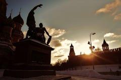 St Catedral da manjericão, quadrado vermelho, Moscovo, Rússia Foto de Stock Royalty Free