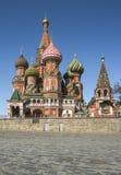 St Catedral de la albahaca en cuadrado rojo Foto de archivo libre de regalías