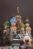 St. Catedral de la albahaca en el cuadrado rojo, Moscú Fotografía de archivo