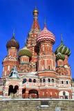 St. Catedral de la albahaca en el cuadrado rojo, Moscú Imagen de archivo