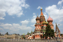 St. Catedral de la albahaca en Moscú Foto de archivo libre de regalías