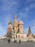 St Catedral de la albahaca en Moscú Foto de archivo libre de regalías