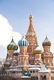 St. Catedral en invierno, Moscú de la albahaca Fotos de archivo libres de regalías